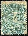 1880 1Bolivar Escuela oval La Guaira MiSt29 YvFP27.jpg