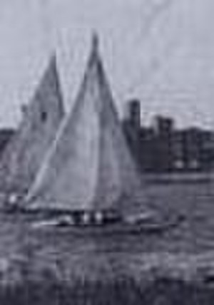 18 foot dinghy - Probably the only sailing photo of the 18 foot dinghy left