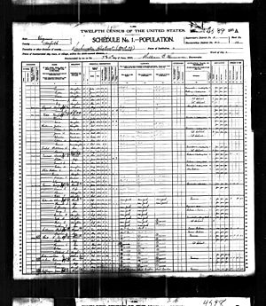 George Poe - Image: 1900 census Ostrander