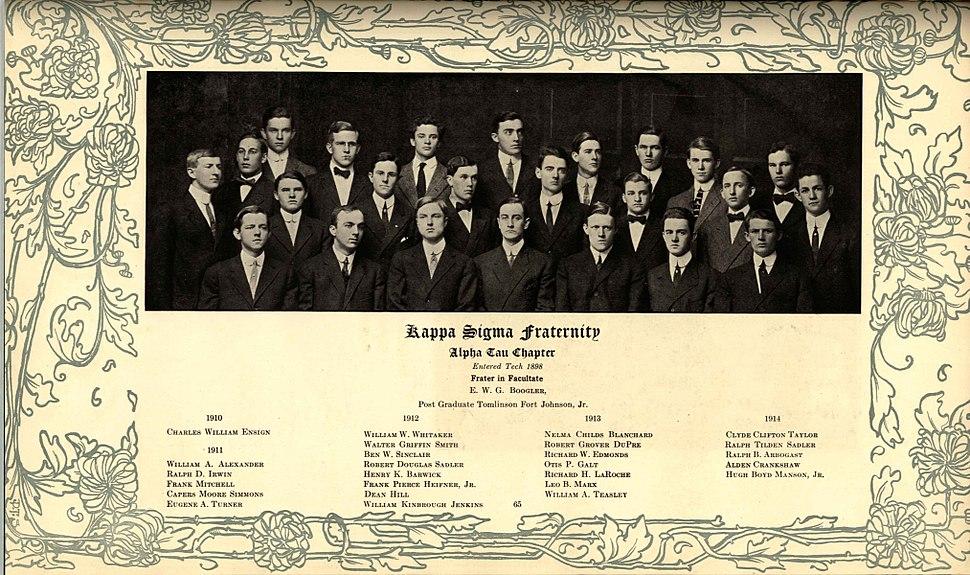 1910 Georgia Tech Blueprint - Fraternities Page 05