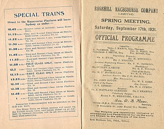 Beauford (horse) - Image: 1921 RRC Hill Stakes Racebook P2