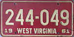 1961 West Virginia debossed license plate.jpg