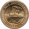 1981 Mark Twain One-Ounce Gold Medal (rev).jpg