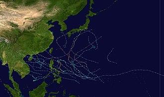 1983 Pacific typhoon season - Image: 1983 Pacific typhoon season summary