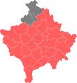 1992 Kosovan parliamentary election Map.png
