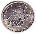 1 песо. Куба. 1988. Чемпионат мира по футболу 1990, Италия.jpg