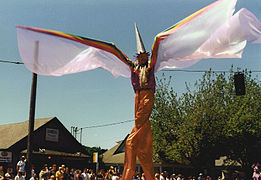 Stiltwalker at the 2000 Fremont Solstice Parade