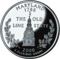 Maryland quarter dollar coin