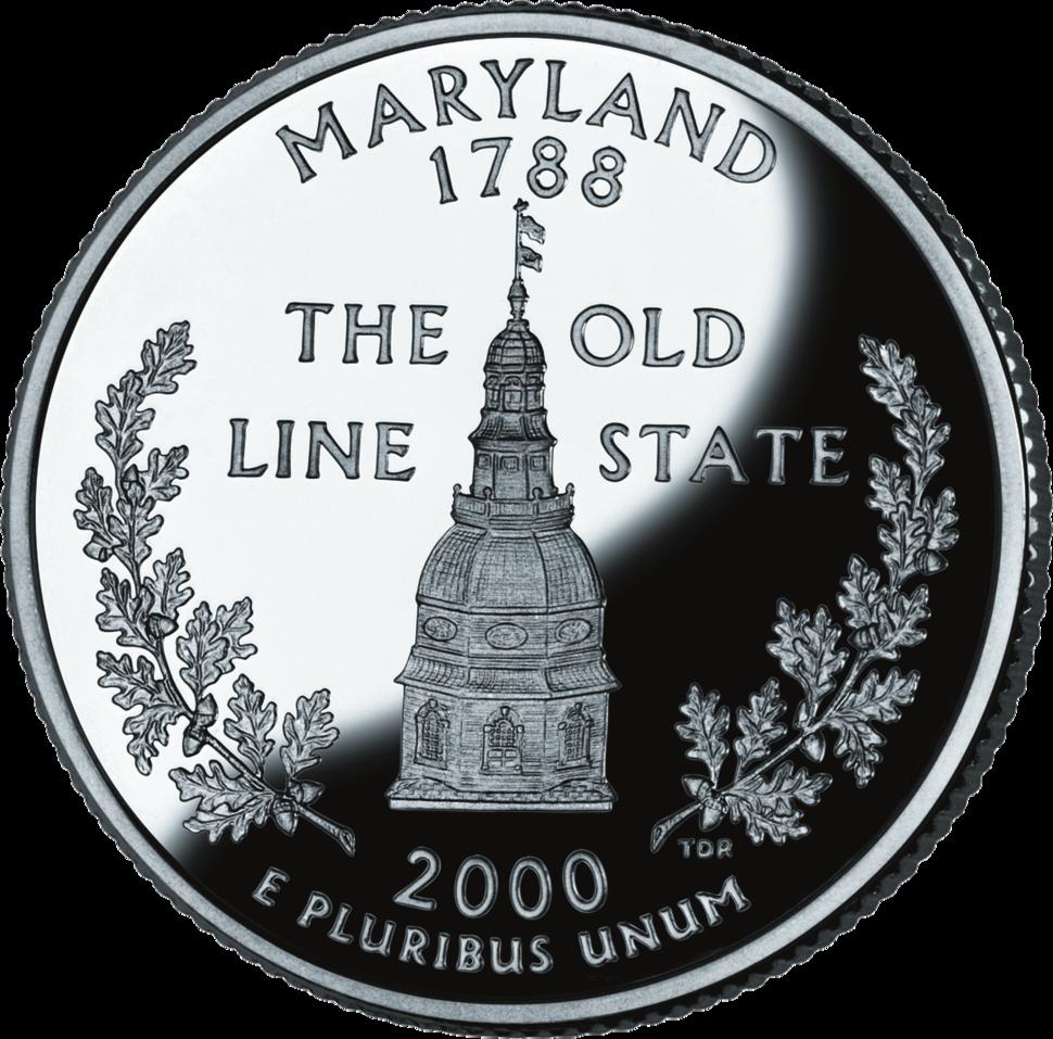 Maryland quarter dollar coin