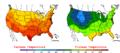 2005-09-01 Color Max-min Temperature Map NOAA.png
