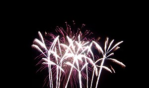 Guy Fawkes Night fireworks. Guy Fawkes Night is celebrated on November 5th in the United Kingdom.