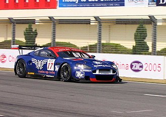2005 FIA GT Championship - Russian Age Racing's Aston Martin DBR9 during practice at the Zhuhai round of the 2005 FIA GT Championship