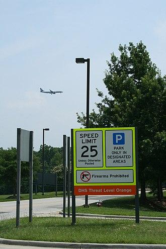 Homeland Security Advisory System - Threat level Orange at Raleigh-Durham International Airport