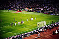 2009 Champions League Final Xavi free kick.jpg