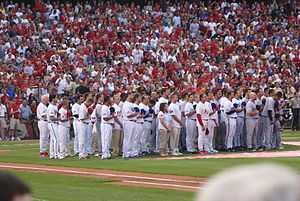 2009 Major League Baseball All-Star Game - Image: 2009 MLB All Star Players