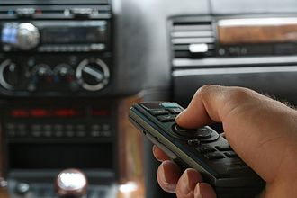 Alpine Electronics - An Alpine car audio remote control.