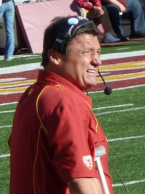 Ed Orgeron - Orgeron during a USC game in 2010