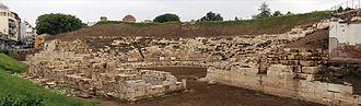 Thessalian League - Ancient theater of Larissa, Thessaly, Greece.