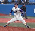 20111127 Yuusuke Nomura, pitcher of the Meiji University Baseball Club at Meiji Jingu Stadium.jpg