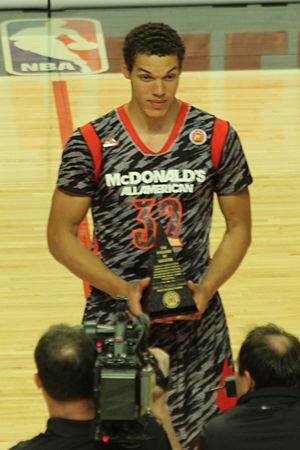 2013 McDonald's All-American Boys Game - Image: 20130403 Aaron Gordon MCDAAG MVP (3) cropped
