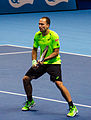 2014-11-12 2014 ATP World Tour Finals Bruno Soares at net by Michael Frey.jpg