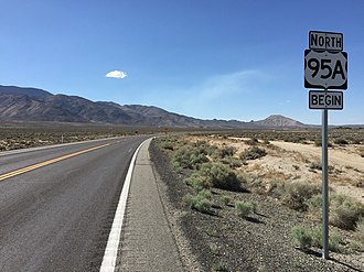 U.S. Route 95 Alternate (Schurz–Fernley, Nevada) - View north from the south end of Alternate US 95 in Schurz