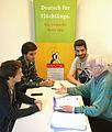 2015-09-29 Deutsch für Flüchtlinge, Besprechung Otto Stender mit jugendlichen Männern aus Syrien und Deutschland bei MENTOR - Die Leselernhelfer Hannover e.V., (01).jpg