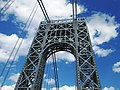 2015 George Washington Bridge west tower from below looking east.jpg