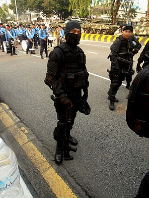 National Special Operations Force (Malaysia) - PASKAU operator with Benelli M1014.