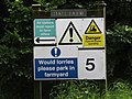 2018-06-28 Warning signs, Hall Farm, Trimingham.JPG