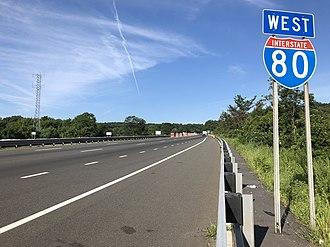 Roxbury Township, New Jersey - I-80 westbound in Roxbury Township