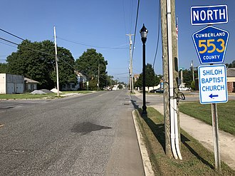 Commercial Township, New Jersey - CR 553 in Commercial Township