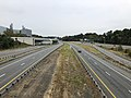 2018-10-26 12 13 17 View west along Virginia State Route 267 (Dulles Toll and Access Roads) from the overpass for Interstate 495 (Capital Beltway) on the border of Tysons Corner and McLean in Fairfax County, Virginia.jpg