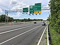 2019-05-27 14 46 19 View north along the outer loop of the Capital Beltway (Interstate 95 and Interstate 495) at Exit 15 (Maryland State Route 214-Central Avenue, Largo, Seat Pleasant) in Largo, Prince Georges County, Maryland.jpg