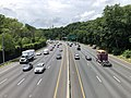 2019-07-11 13 22 24 View west along Interstate 495 (Capital Beltway) from the overpass for Linden Lane along the edge of Silver Spring and South Kensington in Montgomery County, Maryland.jpg