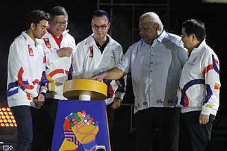 2019 Southeast Asian Games - Officials lead the launch of the one-year countdown for the Games at the Bayanihan Park held on November 30, 2018.