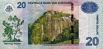 Surinamese dollar - Image: 20surinamedollar
