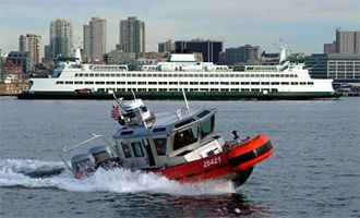 A U.S. Coast Guard 25-foot (8 m) Defender Class Response Boat - Small (RB-S) 25 ft Defender Ii122603a.jpg
