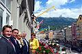 26. juunil avasid kultuuriminister Rein Lang ja suursaadik Viinis Eve-Külli Kala Eesti viienda aukonsulaadi Austrias. Uus aukonsulaat asub Tirooli pealinnas Innsbruckis. Eesti uueks aukonsuliks on Hubert Tramposch. (7453119312).jpg