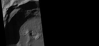 Mare Tyrrhenum quadrangle - Image: 27097craterdepressio nwide