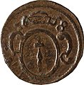 2 Pfennige, Landesdenkmalamt Berlin, Ausgrabung U5, 775 – 1455, Rückseite.jpg