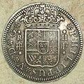 "2 Reales (Plata) de Felipe V con ""ceca"" de Segovia 1723 Reverso.jpg"