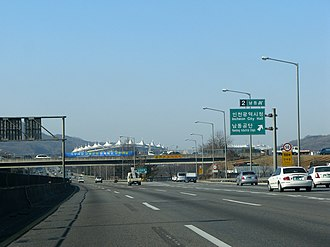 Second Gyeongin Expressway - Image: 2nd Gyeongin Expressway Namdong IC