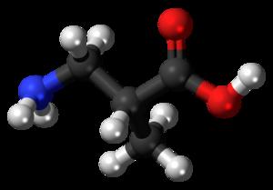 3-Aminoisobutyric acid - Image: 3 Aminoisobutyric acid 3D balls