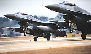Seventh Air Force - Image: 35th Fighter Squadron F 16C Fighting Falcons