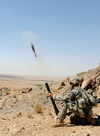 M224 mortar - Image: 4th Infantry Rgt. on reconnaissance mission off Highway 1 in Zabul Province 2010 10 01 1