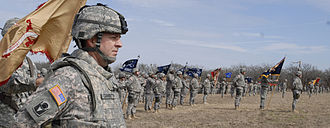 53rd Infantry Brigade Combat Team (United States) - The 53rd IBCT in formation just before deployment to Kuwait and Iraq.