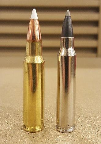 6.8mm Remington SPC - Image: 6.8 SPC + 223