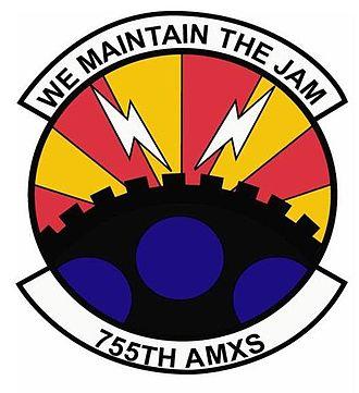 55th Electronic Combat Group - 755th Aircraft Maintenance Squadron emblem