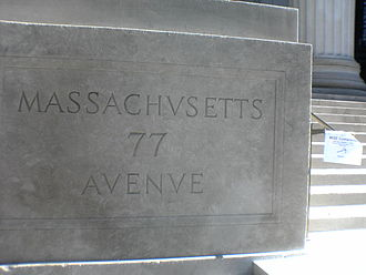 Massachusetts Avenue (metropolitan Boston) - 77 Massachusetts Avenue, the site of MIT, is an important landmark in Cambridge.
